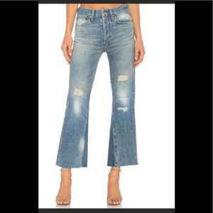 Re/Done Jeans - Re/Done Leandra High waisted jeans crop flare